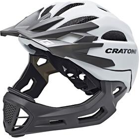 Cratoni C-Maniac Fullface Helmet white-lucentblack matt